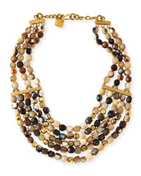 Ashley Pittman Kubwa Multi Strand Necklace 21 L Multi Colors