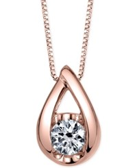 Sirena Diamond Teardrop Pendant Necklace 1 5 Ct. T.W. In 14K White Gold Or Rose Gold