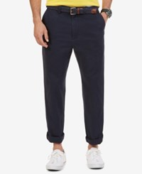 Nautica Big And Tall Men's Pants Anchor Flat Front Twill Pants True Navy