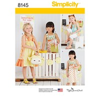 Simplicity Children's Dress And Purse Sewing Pattern 8145