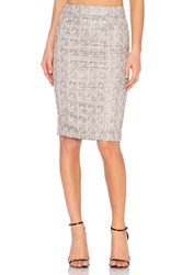 Blaque Label Pencil Skirt Metallic Silver