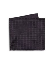 Armani Collezioni Textured Silk Pocket Square Multi