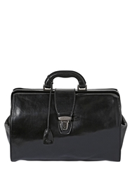 The Bridge Hand Painted Leather Classic Doctor Bag Black
