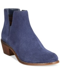 Cole Haan Abbot Ankle Booties Women's Shoes Blazer Blue Suede