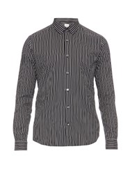 Paul Smith Kensington Contrast Striped Cotton Shirt Navy Multi