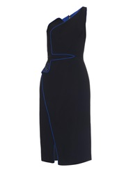 Antonio Berardi One Shoulder Contrast Trim Cady Dress
