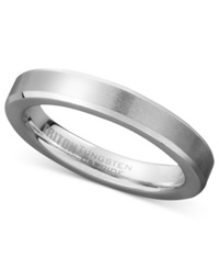 Triton Men's White Tungsten Carbide Ring Wedding Band 3Mm