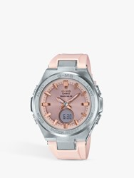 Casio Msg S200g 4Er 'S Baby G Resin Strap Watch Rose Gold