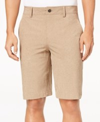 32 Degrees Men's Stretch Shorts Khaki Melange