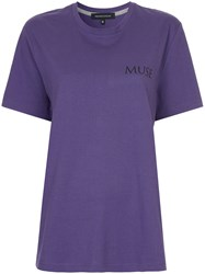 Cityshop Classic Fitted T Shirt Cotton Pink Purple