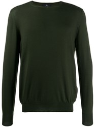 Fay Round Neck Sweater Green