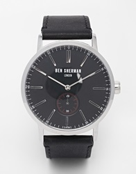 Ben Sherman Leather Strap Watch Black