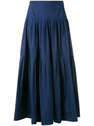Red Valentino Pleated Skirt Blue