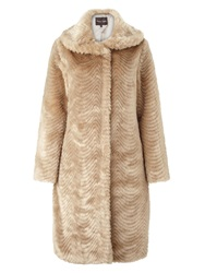 Phase Eight Ceri Fur Jacket Champagne