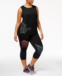Ideology Plus Size Graphic Tank Top Only At Macy's Noir
