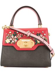 Dolce And Gabbana Small Welcome Shoulder Bag Red