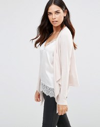 Soaked In Luxury Nelli Drape Cardigan 50G Soft Pink