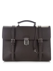 Dolce And Gabbana Leather Briefcase Brown