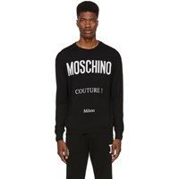 Moschino Black 'Couture ' Crewneck Sweater