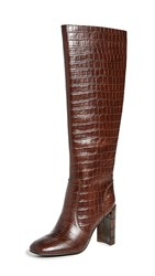 Jeffrey Campbell Entuit Tall Boots Brown Croco