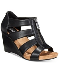 Styleandco. Style Co Fettee Platform Wedge Sandals Created For Macy's Women's Shoes Black