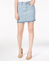 Articles Of Society Stacy Cotton Raw Hem Denim Skirt Reims
