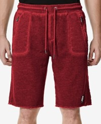 Buffalo David Bitton Men's Firlato Faux Fleece Shorts Cherry Red