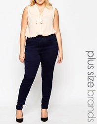 New Look Inspire High Waisted Supersoft Skinny Jean Navy