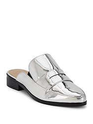 Saks Fifth Avenue Slip On Sandals Silver