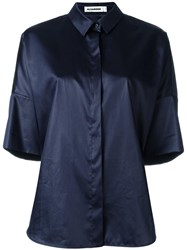 Jil Sander Oversized Shortsleeved Shirt Blue