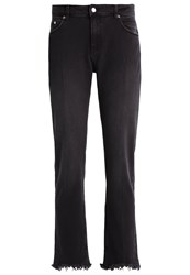 Cheap Monday Common Straight Leg Jeans Improve Black Grey Denim
