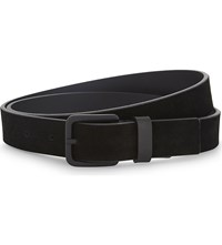 The Kooples Leather And Suede Belt Bla01