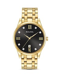 Bulova Diamonds Watch 40Mm Black Gold