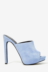 Nasty Gal Jeffrey Campbell Robert's Suede Mule Powder Blue