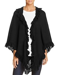 Minnie Rose Ruffle Shawl Black