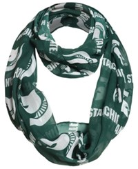 Forever Collectibles Michigan State Spartans All Over Logo Infinity Wrap Scarf Green