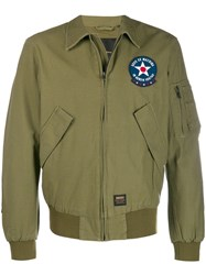 Deus Ex Machina Flight Bomber Jacket Green