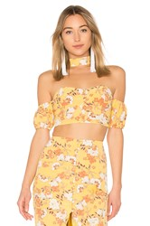 Ale By Alessandra X Revolve Sol Crop Top Yellow