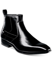 Stacy Adams Men's Montrose Plain Toe Side Zip Boots Men's Shoes Black