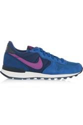 Nike Internationalist Suede Leather And Mesh Sneakers Blue