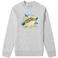 Maison Kitsune Limone Crew Sweat Yellow