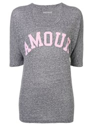 Zadig And Voltaire Over Dyed Amour T Shirt Grey