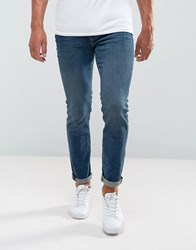 Selected Homme Jeans In Skinny Fit Blue