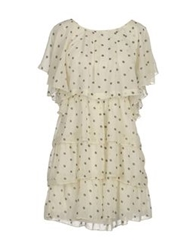 Mina Short Dresses Ivory