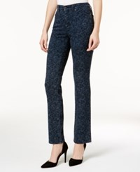 Charter Club Lexington Printed Straight Leg Jeans Created For Macy's Rinse Wash