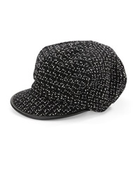 Betmar Tweed Newsboy Cap Black