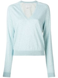 Zadig And Voltaire Classic V Neck Pullover Blue