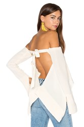 Kitx Suspended Backless Top Ivory