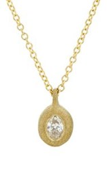 Tate Women's White Diamond Petite Pendant Necklace Colorless