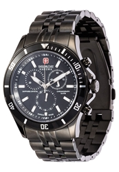 Swiss Military Hanowa Flagship Chronograph Watch Schwarz Black